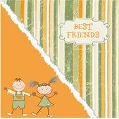 Happy friends — Stock Vector