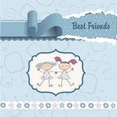 Amigos felices — Stockvector