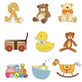 Funny toys items — Stock Vector