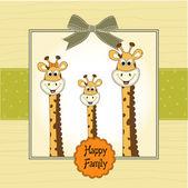 Giraffe family — Vettoriale Stock