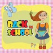 Schoolgirl — Stock Vector #38113831