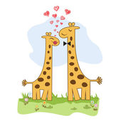 Giraffe couple — Vecteur