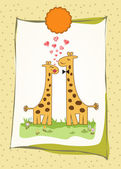 Giraffe couple — Stockvector