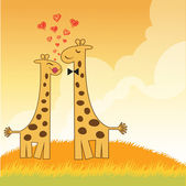 Giraffe couple — Stock vektor