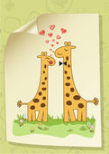 Giraffe couple — Vettoriale Stock
