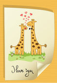 Giraffe couple — Stock Vector