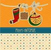 圣诞贺卡 — 图库矢量图片