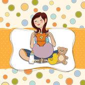 怀孕的女人 — 图库矢量图片
