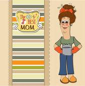 Best mom — Stock Vector