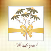 Thank you flowers card — Stock Vector