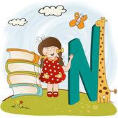 Letras do alfabeto de crianças — Vetor de Stock
