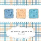 New Baby Card — Stock Vector
