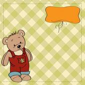 Birthday greeting card with teddy bear — Stock Vector
