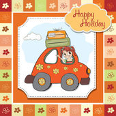 Woman holiday by car — Vetorial Stock