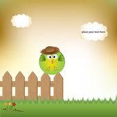 Schattige kleine vogel — Stockvector