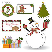 Christmas decoration elements set — Stock Vector