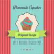 Vintage homemade cupcakes poster — Stock Photo