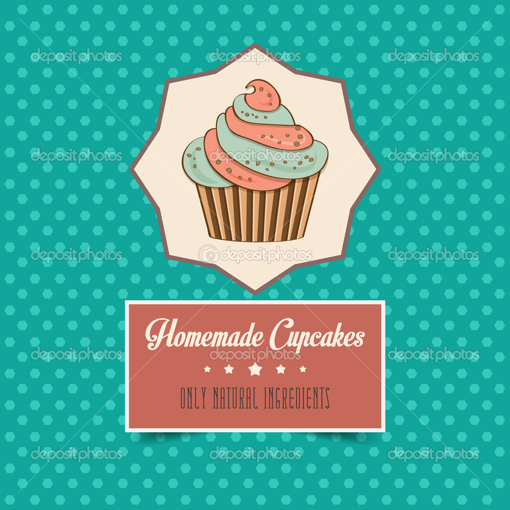Vintage homemade cupcakes poster — Stock Photo © ClaudiaBalasoiu ...