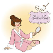 Spa lady — Stock Vector