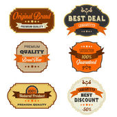 Rótulos retro vintage — Vetorial Stock