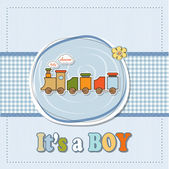 Baby boy shower card — Stock Vector