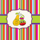Pears in love — Vecteur