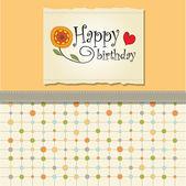Verjaardag wenskaarten — Stockvector