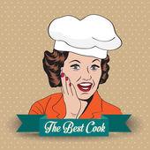 Lady Chef, retro illustration — Stock Photo