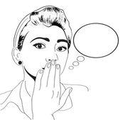 ビンテージ ポップアートの女の子 — ストックベクタ
