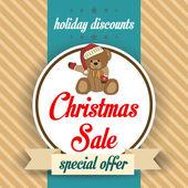 Christmas sale design — Stock Vector