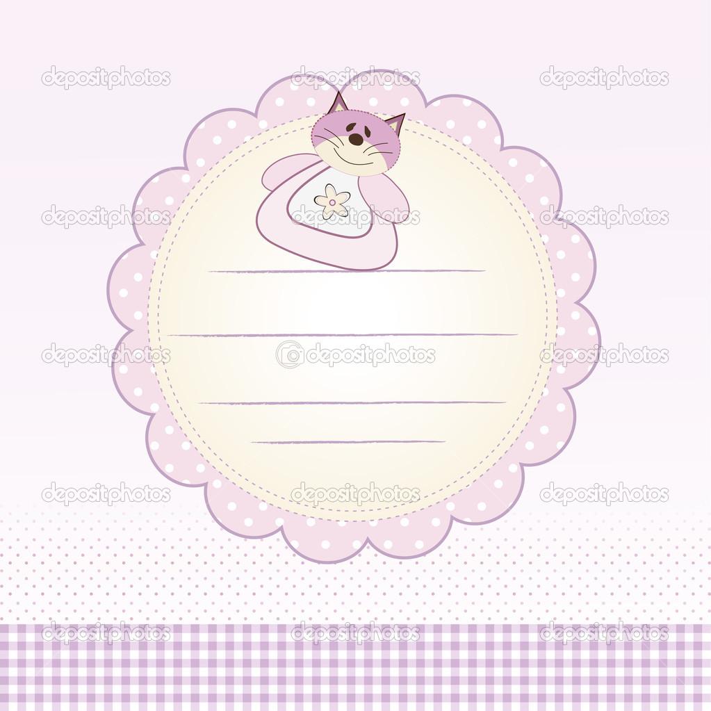 婴儿洗澡卡 — 图库矢量图像08