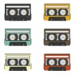 Retro audio tapes collection — Stock Vector #38770397