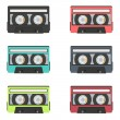 Retro audio tapes collection — Stock Vector #38770407