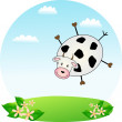 Flying cow — Stock Vector #38803811