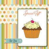 Happy Birthday cupcakes — Vector de stock
