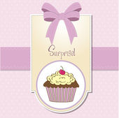 Happy Birthday cupcakes — Stock Vector