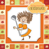 Best wifehouse certificate — Stock Vector