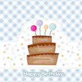 Birthday cake — Vector de stock