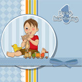 Little boy are playing — Stock Vector