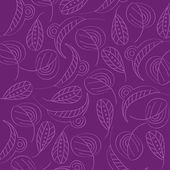 Seamless pattern with leaf — Stok Vektör