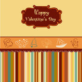 Vintage valentine's day card — Vettoriale Stock