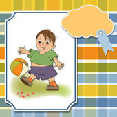 Boy playing ball — Stock Vector