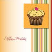 Happy Birthday cupcakes — Stock Vector
