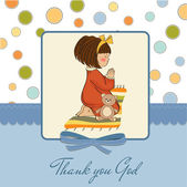 Girl praying — Vector de stock