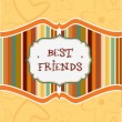 Stock Vector: Best friends card