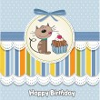 Birthday card with a cat cake — Stock Vector #39117103
