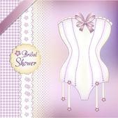 Bridal Shower greeting card — Stock Vector