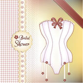 Bridal Shower greeting card — Stock Vector