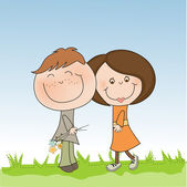 Lovers couple — Stock Vector