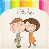 Couple d'amoureux — Vecteur